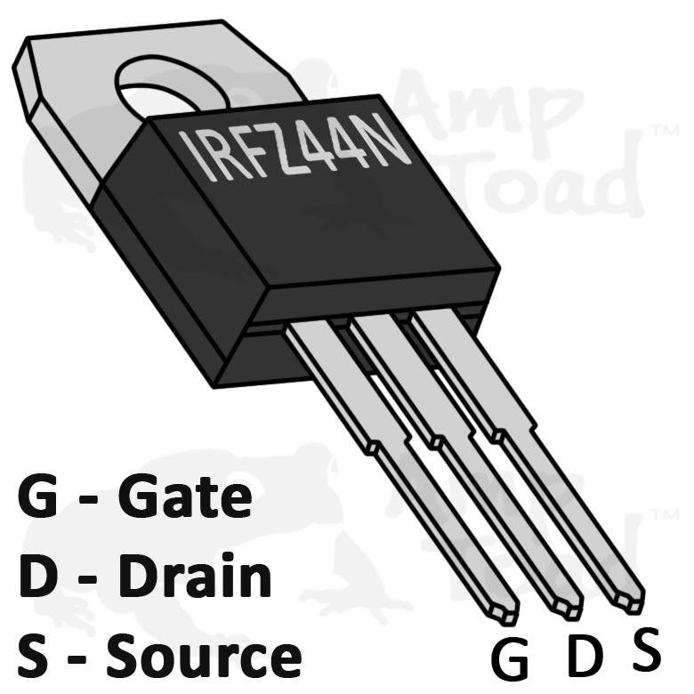 International Rectifier Transistor  for Arduino Pi  TTL MOSFET IRFZ44N 55V